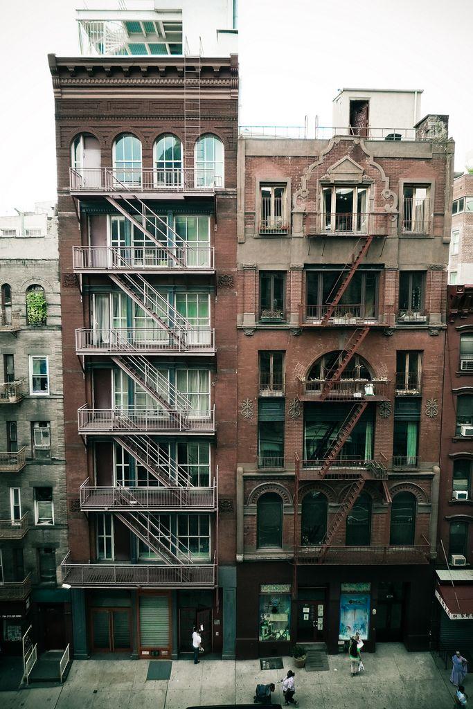 HS building plus fire escapes