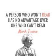 quote reading mark twaine