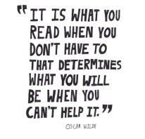 quote reading oscar wilde