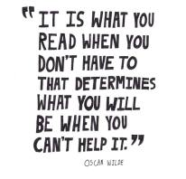 quote reading oscar wilde