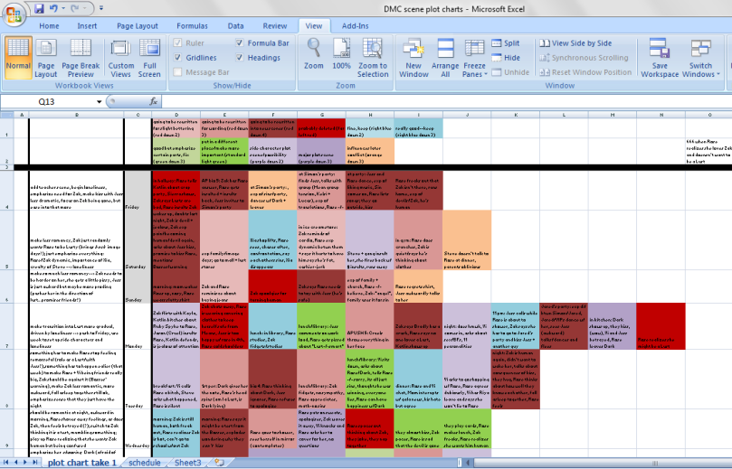 DMC excel screenshot