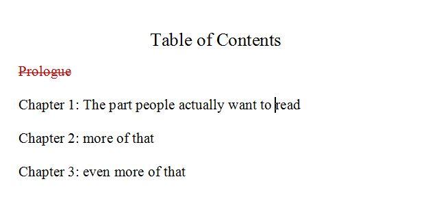 table of contents prologue bigger