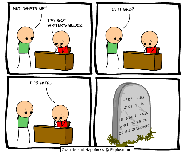writers block cyanide