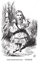 Alice burdened with a pig