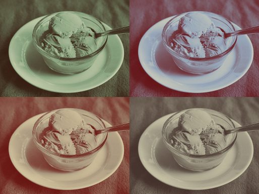 ice cream blue edit