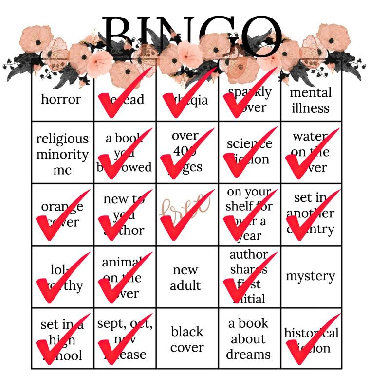 book bingo fall checked
